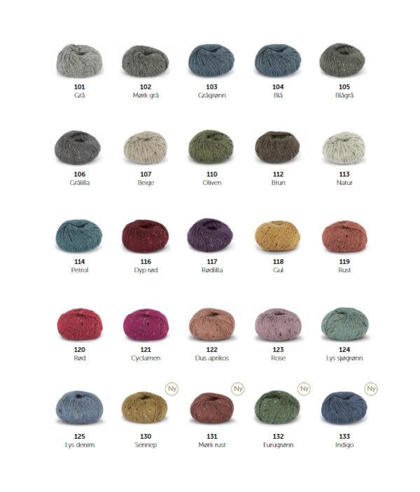 Alpakka Tweed fargekart 20