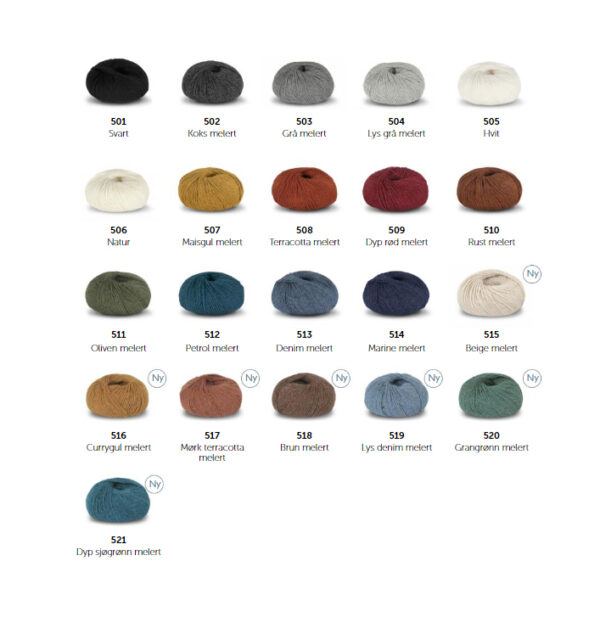 Alpakka Forte Classic fargekart